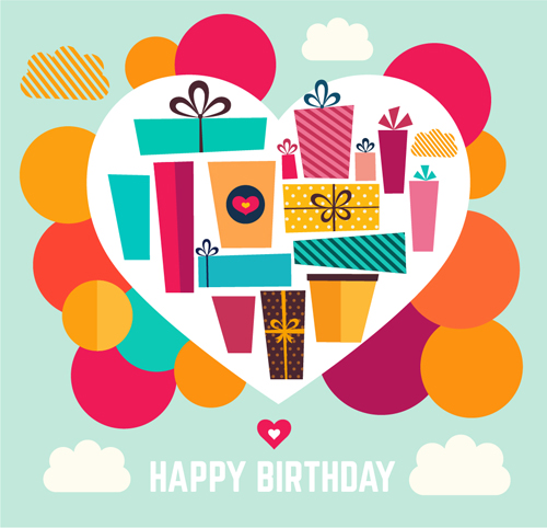 Birthday gift with heart background vector 02 welovesolo heart gift birthday background negle Gallery