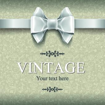 vintage ornate bow background vector background