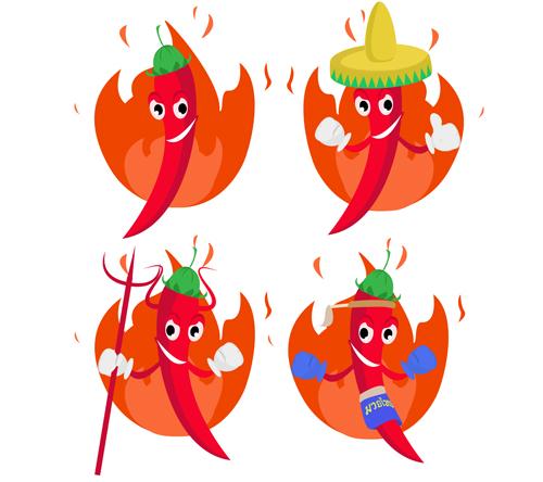 styles pepper hot pepper funny cartoon