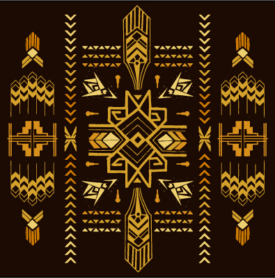 Golden deco elements art vector materoal 03 welovesolo for Art deco interior design elements