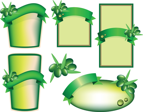 Set Of Products Labels Templates Vector 01