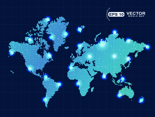 Vector world map design graphics set 03 welovesolo vector world map design graphics set 03 gumiabroncs Image collections
