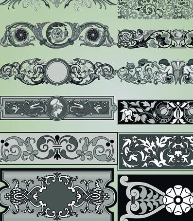 vintage ornament frame elements element calligraphic border