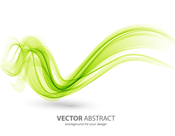 Drawing Vector Lines In Photo Cs : Colored curved lines abstract background vector
