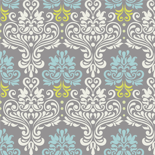 Vintage floral decor pattern seamless vector Vintage floral decor pattern seamless vector