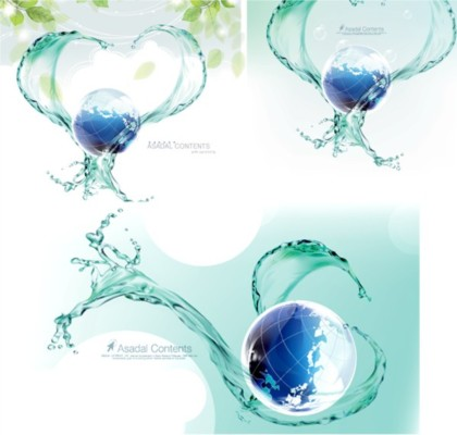 water earth dynamic blue background