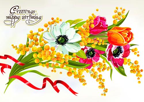 Happy Birthday Flowers Greeting Cards 03 Welovesolo