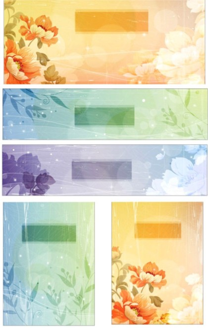 style Retro font flowers fantasy background