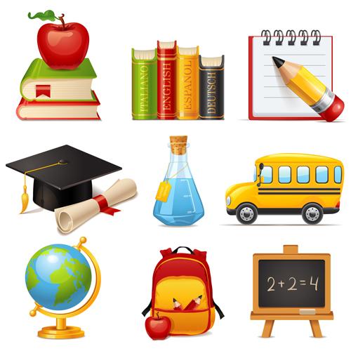 school multicolor Icon vector icon