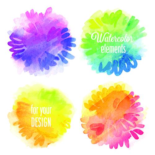 watercolor Vector background material vector background background material background