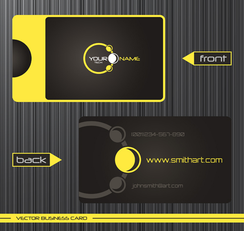 template modern front cards business