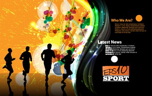 Sports design elements vector background 02 - WeLoveSoLo