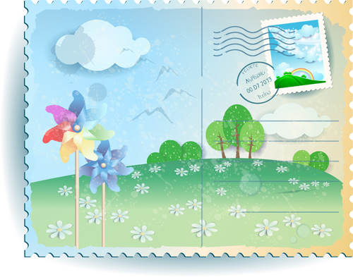 summer postcards postcard elements element