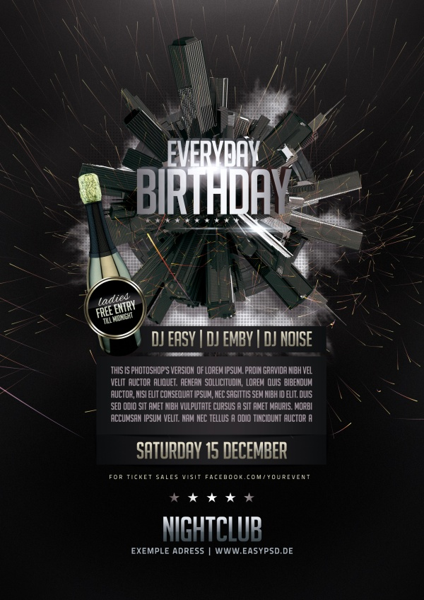 Birthday party creative psd template - WeLoveSoLo
