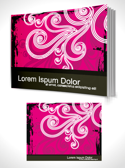 Book Cover Template Eps ~ Set of book cover design template vector graphics
