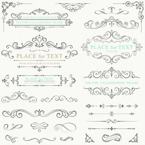 Decorative Frame Calligraphy Font