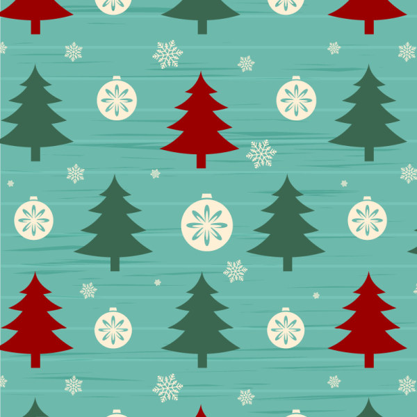 Christmas Tree Pattern.Christmas Tree With Snow Seamless Pattern Vector Welovesolo
