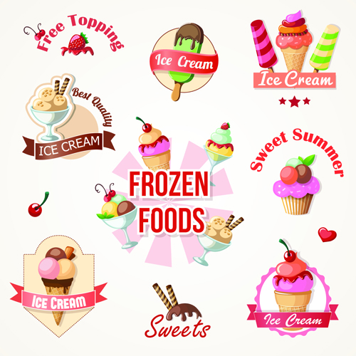 logos logo labels label ice cream ice cream