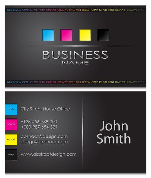 template modern front card business
