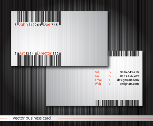 template modern front card business