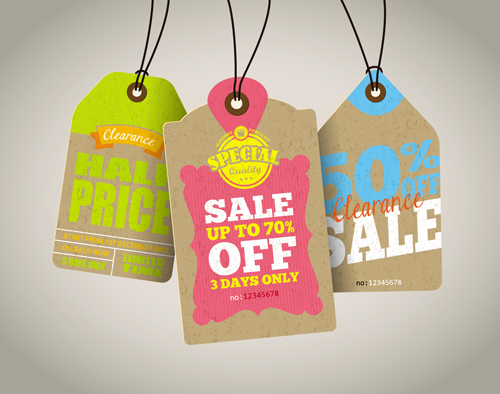 tags sale Retro font price