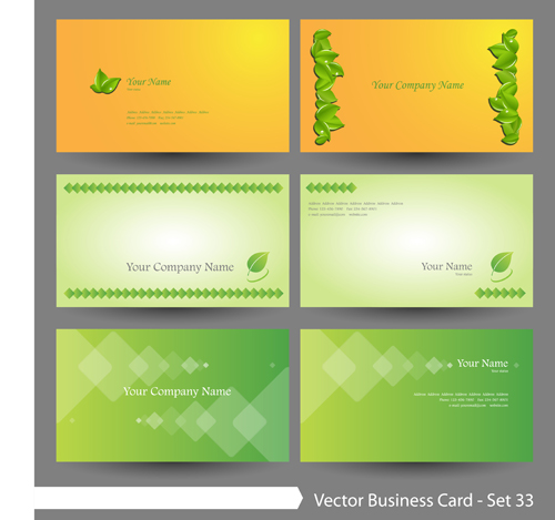 natural business cards business