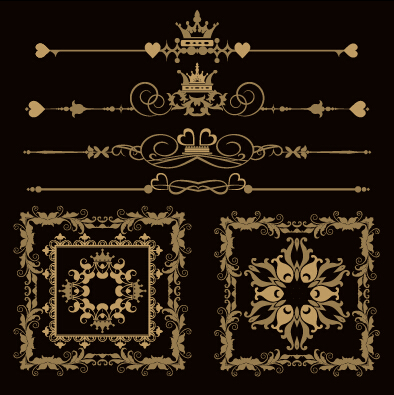 f5a65db297b4 Luxury ornaments borders with frame vector 02 - WeLoveSoLo