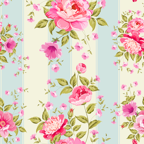 Seamless pink floral pattern - photo#17