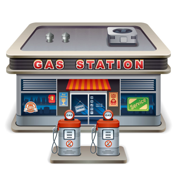 station gas elements element cartoon