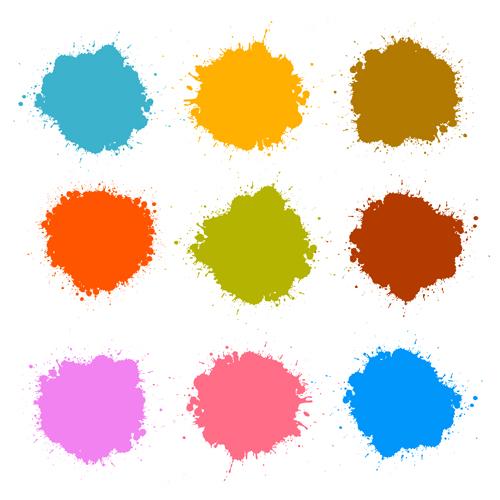 spatter colorful Blot
