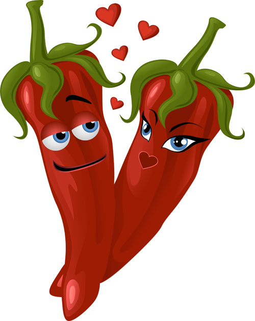 peppers hot funny chili cartoon