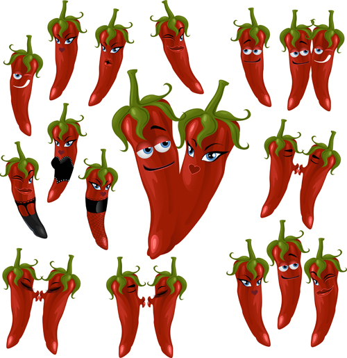 peppers funny chili cartoon