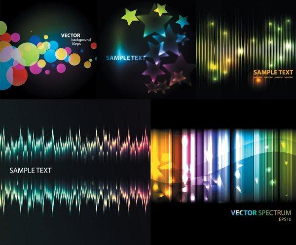 wave star light fantasy dots color background