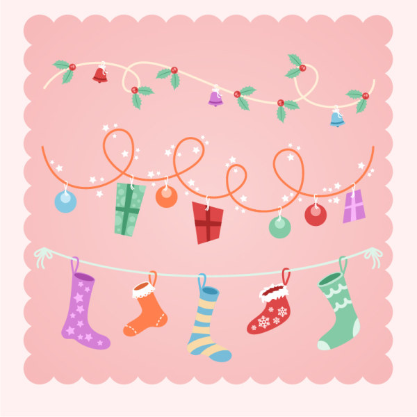 pink gift cute christmas background
