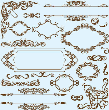 Simple frame with borders and ornaments vector design 03 - WeLoveSoLo