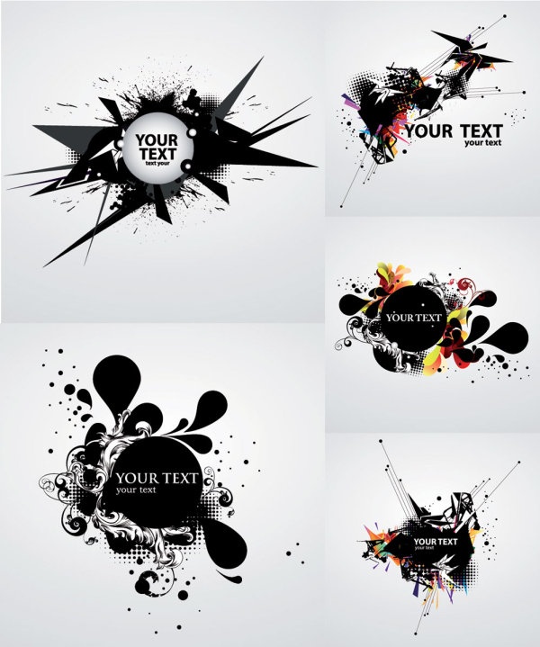 trend ink graffiti dynamic card background abstract