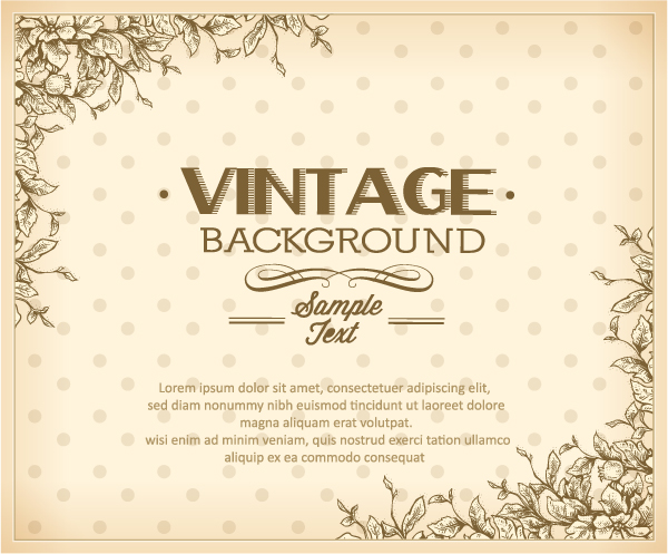 elegant vintage background set 06 - welovesolo, Powerpoint templates