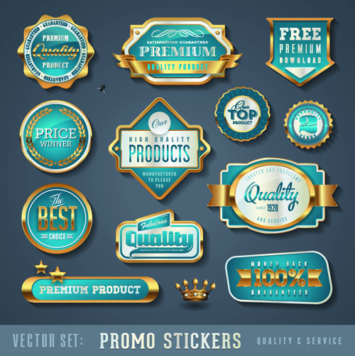 Stickers sticker promo labels label golden