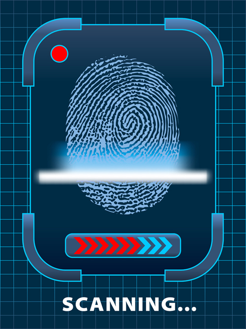 set of fingerprint identification vector 04 welovesolo