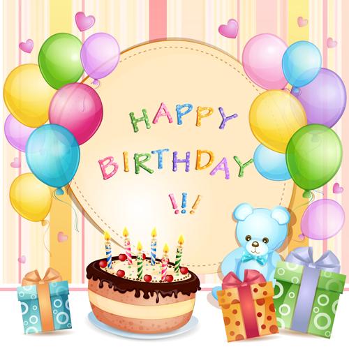 Cartoon Birthday cards design vector 01 WeLoveSoLo – Birthday Cards Design
