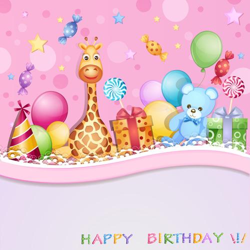 Cartoon Birthday Cards Design Vector 05 Welovesolo