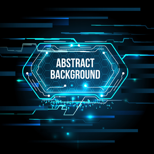Futuristic tech with abstract background vector 03 Futuristic tech with abstract background vector 03