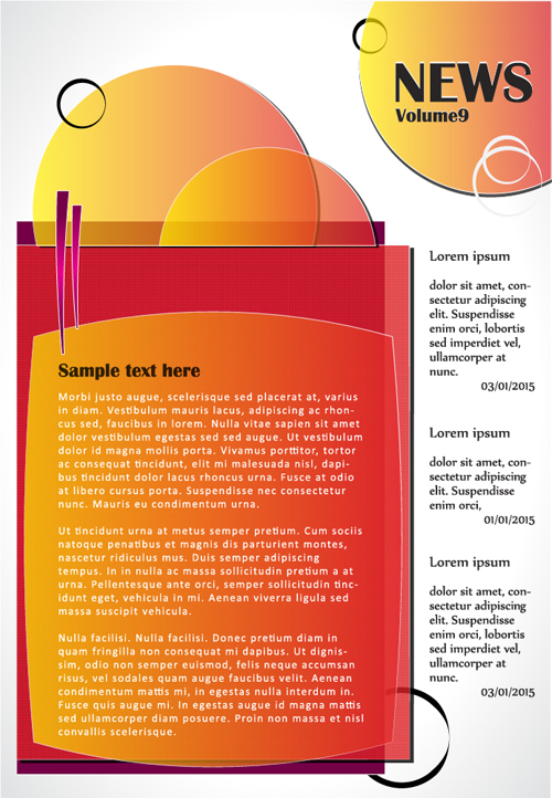 website template vector template page News