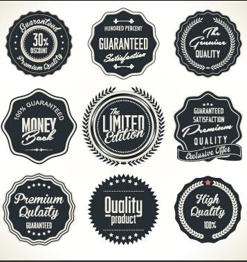 Vintage Style quality label badge