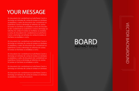 template business brochure background vector background