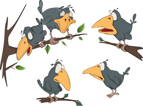 material funny crow cartoon