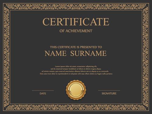 vintage frame certificate template vectors 02 welovesolo
