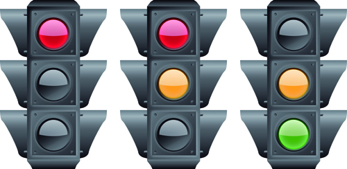 traffic light 01 Various Traffic light design vector 01