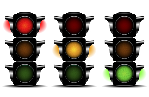 traffic light 02 Various Traffic light design vector 02