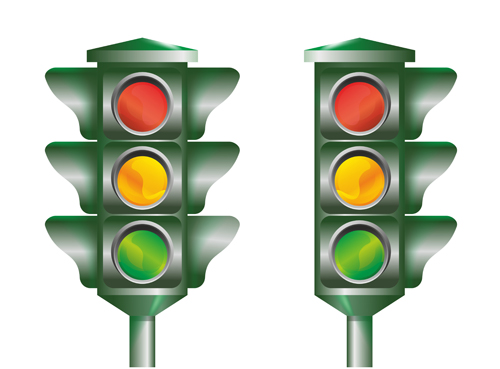 traffic light 04 Various Traffic light design vector 04